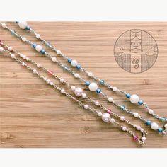 天空雑貨店〜ég〜さんはInstagramを利用しています:「メガネどめシリーズ 色んなタイプのチェーンを作ろう #天空雑貨店 #スワロフスキー #swarovski #ékszer」 Beaded Necklace, Beaded Bracelets, Jewelry, Instagram, Beaded Collar, Jewlery, Pearl Necklace, Jewerly, Pearl Bracelets