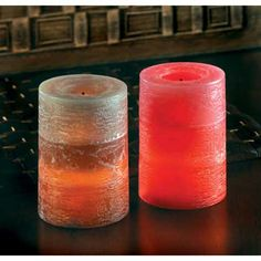 rustic cinnamon Flameless candle Red-hot cinnamon heats up all sides of this earthy pillar candle without the open flame! This realistic LED candle adds the warmth of flickering light
