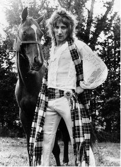 1970's take on the plaid! Be still my heart, loved him then, love him even more now!