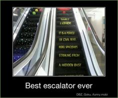 Star Wars escalator: If you're a multi-millionaire and haven't had this installed in your house, give me your money because you're spending it wrong!