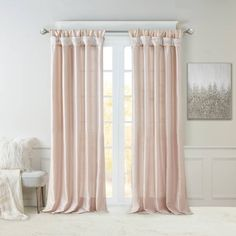 Madison Park Emilia Faux Silk Curtain with Privacy Lining, DIY Twist Tab Top, Window Drapes for Living Room, Bedroom and Dorm, Champagne Blush Curtains, Faux Silk Curtains, Tab Top Curtains, Window Drapes, Grommet Curtains, Drapes Curtains, Silk Fabric, Valances For Living Room, Home Decor Outlet