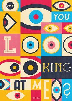 Graphic Design Typography, Graphic Design Illustration, Illustration Art, Typography Inspiration, Graphic Design Inspiration, Graphic Eyes, Eye Art, Grafik Design, Editorial Design
