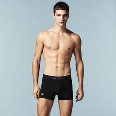 85b10d918 Iconic L.12.12 pique trunk embedded with soft touch modal Shirtless Men