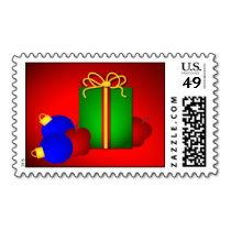 Merry Christmas Teacher Postage Stamps