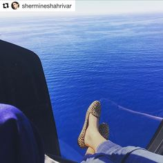 French Riviera, heli & animal print, the perfect match! 😎☀️🚁 Thank you @shermineshahrivar 😘 https://www.mychatelles.com/en/collection/leo-slippers #repost #Chatelles #ShineInFlats #ChatellesGirls #effortless #AnimalPrint #LeopardPrint #FrenchRiviera #MediterraneanSea #sttropez #shermineshahriver