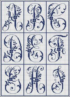 Free Easy Cross, Pattern Maker, PCStitch Charts + Free Historic Old Pattern Books: Sajou No 321 Monogram Cross Stitch, Cross Stitch Alphabet Patterns, Xmas Cross Stitch, Cross Stitch Books, Cross Stitch Bookmarks, Cross Stitch Fabric, Embroidery Monogram, Cross Stitch Baby, Cross Stitch Designs