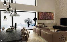 Strefa dzienna w domu jednorodzinnym - zdjęcie od Femberg Architektura Wnętrz - Salon - Styl Nowoczesny - Femberg Architektura Wnętrz