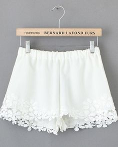 Shorts Crochet Floral encaje-blanco 14.88