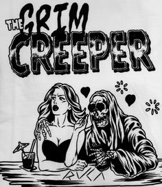 art, clothing, and grim reaper image Arte Horror, Horror Art, Dibujos Dark, Vintage Horror, The Grim, Grim Reaper, Halloween Art, Creepers, Psychedelic Art