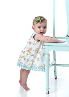 PDF Baby Dress Pattern  Square Neck Dress and Top by tiedyediva, $7.95