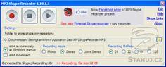 Náhled programu MP3 Skype Recorder