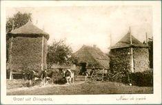 Boerderij ergens in de Achterhoek, vermoedelijk Ruurlo of Vorden (gelet op gedeelte strodak).