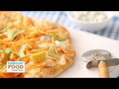 awesome Buffalo Chicken Pizza - Everyday Food with Sarah Carey