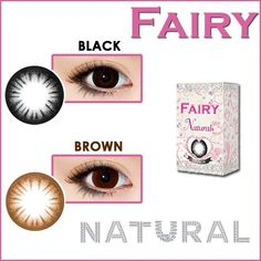 FAIRY 1-Day Color Con are some of the most natural and comfortable cosmetic contact lenses arround. Try them; you won't be disappointed! SHOP  http://www.eyecandys.com/fairy-1-day-princess-series-14-2mm/