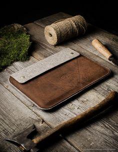 99€ - Etui en cuir et feutre de laine pour ordinateur portable 13 pouces