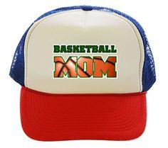 Basketball Mom Sport Red White Blue Trucker Hat
