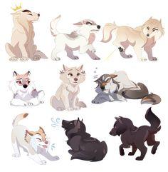 Highvalley Chibis by Naviira on DeviantArt Chibi Dog, Cute Wolf Drawings, Anime Wolf Drawing, Anime Art, Cartoon Wolf, Wolf Character, Wolf Artwork, Wolf Spirit Animal, Anime Animals