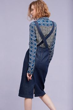 Alia Denim Pinafore Dress, Blue