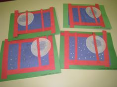 Goodnight Moon story craft.  We also cut out magazine pictures to make our own Goodnight Moon book - this was the cover.