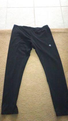 c95890d15d21 Women s Champion Black Workout Pants Size XL  fashion  clothing  shoes   accessories