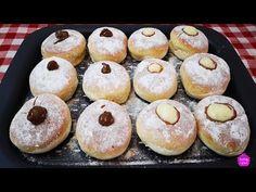 KROFNE IZ RERNE BEZ KAPI ULJA 🍩 kuhaj i peci - YouTube Kolaci I Torte, Christmas Eve, Doughnut, Nutella, Donuts, Ale, Waffles, Sweet Tooth, Deserts