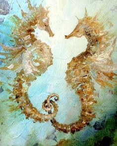 Seahorses In Love 2017 is a painting by Dina Dargo