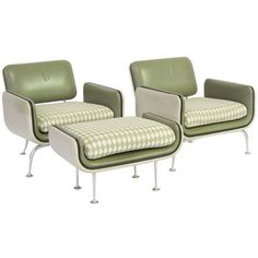 Alexander Girard lounge chairs and ottoman by Herman Miller