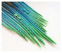 10 DE Wooldreads Brown  Blue Green by KatinkaDreads on Etsy