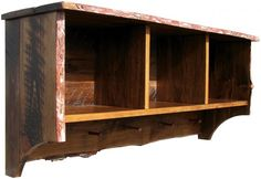 Sawdust City LLC - Rustic Shelf with Storage Cubbies - 4' long, $445.00 (http://www.sawdustcityllc.com/rustic-shelf-with-storage-cubbies-4-long/)