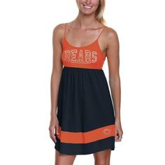 '47 Brand Chicago Bears Ladies Debut Sundress - Orange/Navy Blue