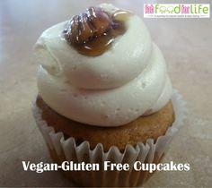 Vegan-Gluten Free Cupcakes - Powered by Gluten Free Cupcakes, Gluten Free Treats, Gluten Free Desserts, Vegan Gluten Free, Gluten Free Recipes, Dessert Recipes, Sugar Free Recipes, Easter Recipes, Food Allergies