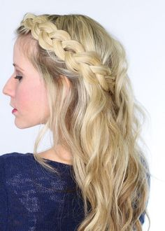 Learn how to Dutch-braid with this easy step-by-step tutorial by Twist Me Pretty. Curl your hair away from your face before starting this beautiful braid, and you will look as elegant as ever on your prom night.