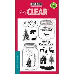 Ellen Hutson LLC - Hero Arts Clear Stamps, Winter Scene, $16.00 (https://www.ellenhutson.com/hero-arts-clear-stamps-winter-scene/)