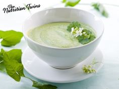 Broccoli-White Bean Soup | Creamy & Delicious! | Only 128 Calories | Fiber & Protein To Boot | For MORE RECIPES please SIGN UP for our FREE NEWSLETTER NutritionTwins.com
