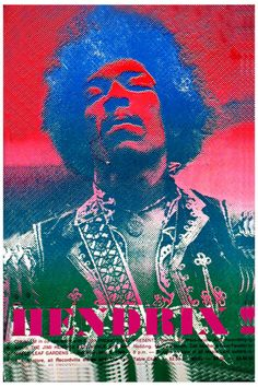 Jimi Hendrix at Toronto Canada Concert Poster 1969 in Rock Music Posters