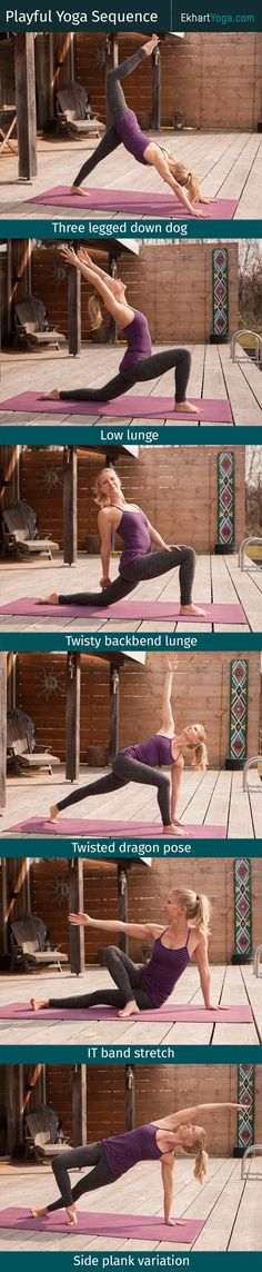 This playful sequence will help you get into your body and simply revel in the joy of moving. Make sure each pose - and equally importantly, the transition to each pose - feels delicious. Listen to your body and do what feels good! - Enjoy! :) EkhartYoga.com