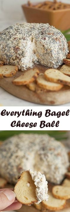 Get the holiday party started with this easy Everything Bagel Cheese Ball recipe: all the flavors of your favorite everything bagel turned into a delicious cheese ball appetize or brunch idear! Serve it with bagel chips and watch it disappear.