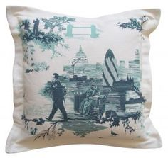 London Toile Cushion from Rume