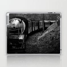Spooky Train Laptop & iPad Skin Train railway railrod ghost eisenbahn geisterzug zug horror #Train #railway #railrod #ghost #eisenbahn #geisterzug #zug #horror