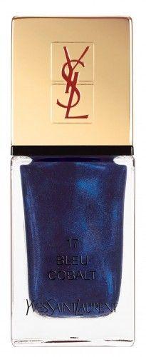 Be bold in  Yves Saint Laurent La Laque Bleu Cobalt. (212 872 8654)