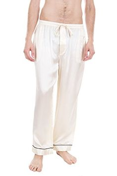 Men's Luxury Sleepwear 100%Silk Pajama Pants by Oscar Rossa