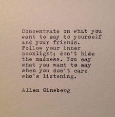 Allen Ginsberg Marijuana Quotes | Allen Ginsberg Quote Typed on Typewriter