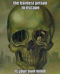 """Incarceration / Oil on canvas) - David Van Gough "" Crane, Skull Painting, Painting Art, Art Paintings, Danse Macabre, Gothic Art, Skull And Bones, Memento Mori, Deviantart"