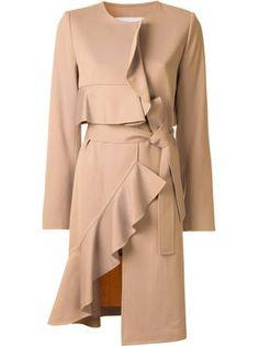Goen.J ruffled asymmetric coat