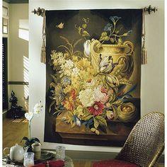 Tapestries, Ltd. Handwoven Nest & Floral Tapestry - 6687 / CC80R1 / 368