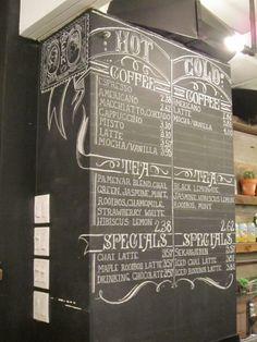 Hot and cold drinks coffee shop interior design, coffee shop design, cafe interior, Cafe Interior, Shop Interior Design, Cafe Design, Coffee Shop Menu, Coffee Shop Design, Chalkboard Designs, Chalkboard Art, Chalk Menu, Menue Design