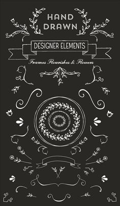 Chalkboard doodles and fonts free hand drawn logo vectors and clip art Chalkboard Lettering, Chalkboard Designs, Chalkboard Clipart, Free Clipart Images, Vector Clipart, Free Use Images, Clipart Design, Free Vector Art, Logo Shapes