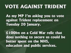 Thanks for the many messages on scrapping Trident and supporting HoC motion by  @theSNP @Plaid_Cymru @TheGreenParty