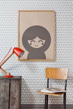 Decorar una habitación infantil con mobiliario escolar vintage