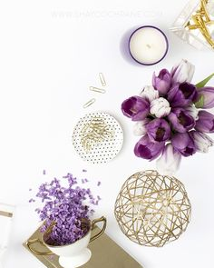 Styled Stock Photography for bloggers and successful small businesses. Purple…